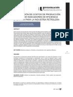 Optimización de Costos de Producción a Través de Indicadores de Eficiencia Operativa Para La Industria Petrolera