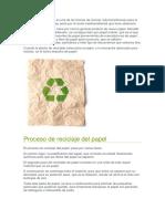 El Reciclaje de Papel
