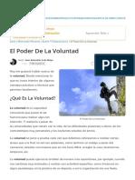 El Poder de La Voluntad _ Desarrollo Personal
