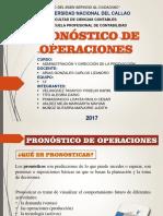pronostico de operaciones