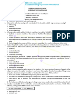 Curriculum Development and Developmental Reading