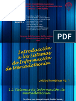 Unidad I SISTEMA DE INFORMACIÓN DE MERCADOTECNIA