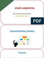 PRIMERA CLASE- Economía Ambiental