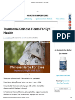 Traditional Chinese Herbs for Eye Health