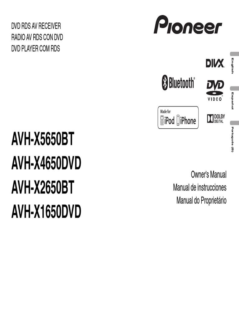 Avh x5650bt avh x4650dvd avh x2650bt avh x1650dvd operating manual avh x5650bt avh x4650dvd avh x2650bt avh x1650dvd operating manual eng por esppdf fandeluxe Choice Image
