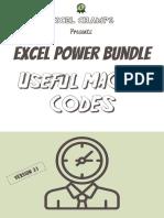 Vba Codes Excel
