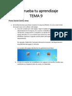Comprueba Tu Aprendizaje TEMA 9