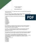 Lista de Exercícios - Massa Molecular