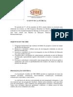 1ª Convocatória - VIII CBHE - 2015