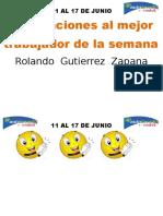 Felicitaciones Al Mejor Trabajador de La Semana