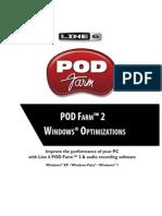 POD Farm 2 Windows XP & Vista Audio Tips & Optimizations (Rev a) - English