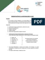 Presentación de La Metodología Parlamentos Departamentales 2017