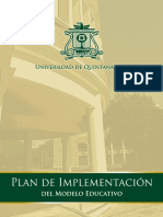 Plan de Implementacion Del Modelo Educativo