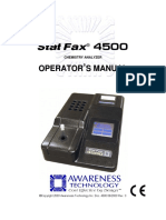 Startfax 4500 Operators Manual