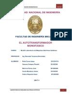 Informe Final Autotransformador Monofasico