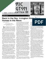Historic Irvington Newsletter - 2017 Summer