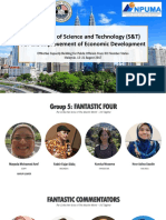 The Impact of S&T Economic Development_MTCP_Inpuma_University Malaya 2017