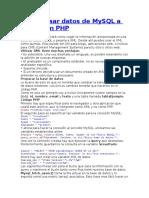 Como Pasar Datos de MySQL a XML Con PHP