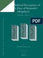 Galluzzo-The Medieval Reception of Book Zeta of Aristotle's Metaphysics (Vols. 1 & 2)