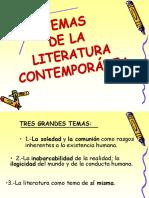 Temas y rasgos propios de la literatura contemporánea.[1].ppt