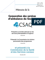 066m Corporation Des Services d Ambulance Du Québec
