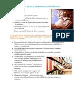Normas Generales de Uso de La Biblioteca