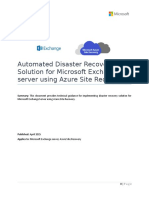 Microsoft Exchange DR Solution Using ASR - Guidance