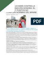 Cusco Luchará Contra La Contaminación Sonora