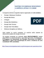 Programa de Capacitação Em Energias Renováveis Da UNIDO