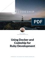 Codeship Using Docker and Codeship for Ruby Development