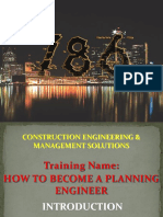 How to Become a Planning Engineer - Day # 01 - PPT # 01
