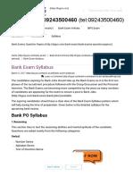 Complete Bank Exam Syllabus_ Prepare for PO, Clerk & SO Exam
