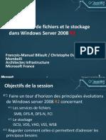 Les services de fichiers et le stockage dans Windows Server 2008 R2