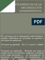 PRINCIPIOS JURÍDICOS DE LA ORGANIZACIÓN ADMINISTRATIVA.ppt