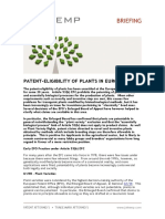 Patent Eligibility of Plants in Europe 17-09-15