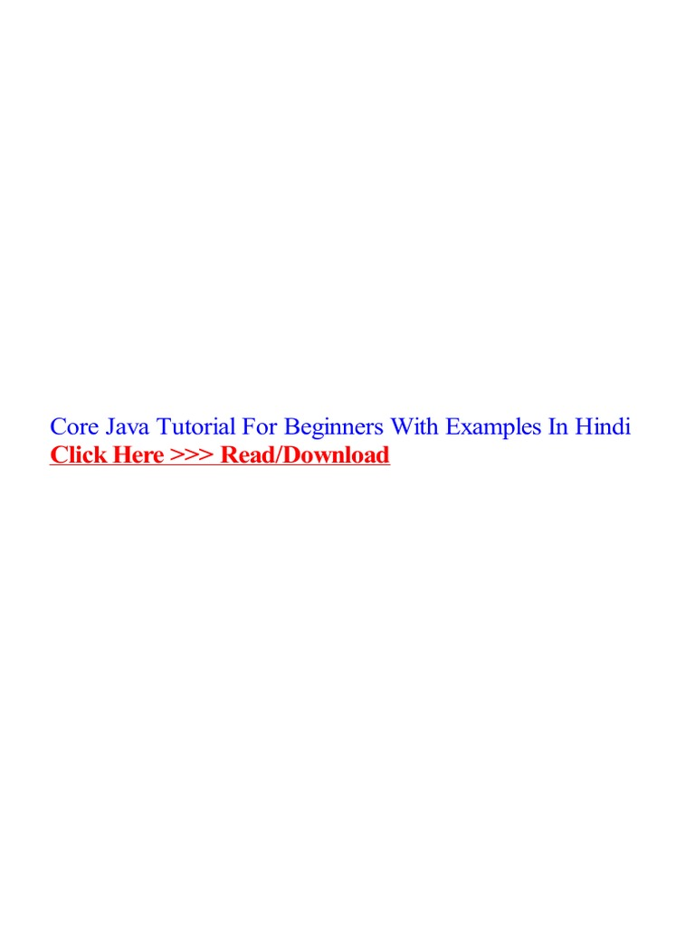 Core java tutorial for beginners with examples in hindi java core java tutorial for beginners with examples in hindi java programming language php baditri Images