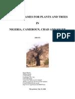 Fulfulde Plant Names