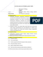 RPP Keragaman Budaya Bangsa Indonesia Sebagai Identitaas Bangsa