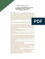 Condo Act - RA - 4726 - CA  - BAR Notes