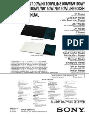 SONY HBD-N7100W,HBD-N8100W pdf | Hdmi | Blu Ray