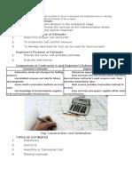 Construction Cost Estimation