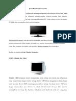 Jenis Monitor Komputer