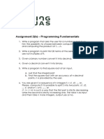 Assignment 2b. Programming Fundamentals