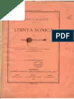 Gogu Constantinescu Stiinta Sonica