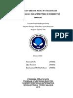 Membuat Website Agro Inti Nusantara Menggunakan CMS Wordpress Di Comedutec Network