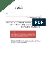 Wallerstein Immanuel - Theory Talks