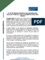 Nota de Prensa Publico 12 Agosto10