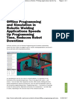 Offline Programing and Simulation in Robotic Welding
