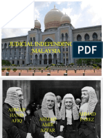Independence of the Judiciary in Malaysia