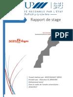 Rapport de Stage Sofa Maroc 2017